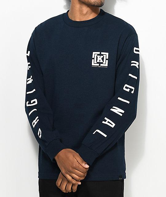 KR3W OG Bracket Navy Long Sleeve T-Shirt