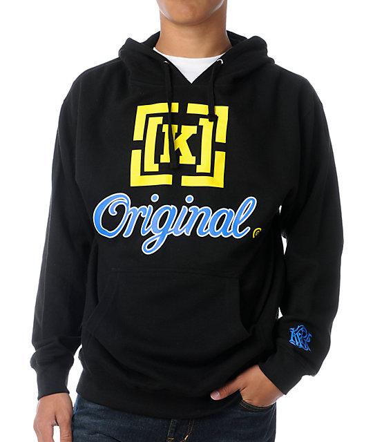 KR3W Original 3 Black, Blue, & Yellow Pullover Hoodie