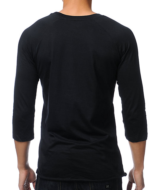 KR3W Original 3 Black Baseball T-Shirt