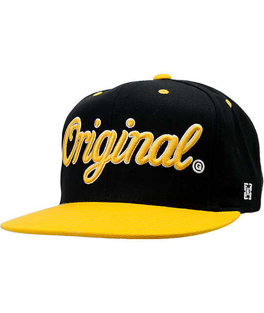KR3W Original Black & Yellow Snapback Hat