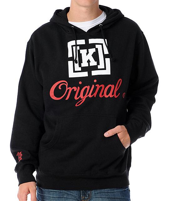 KR3W Original Black Pullover Hoodie