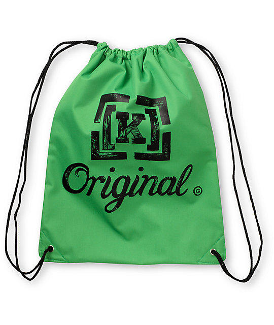KR3W Original Green Drawstring Bag