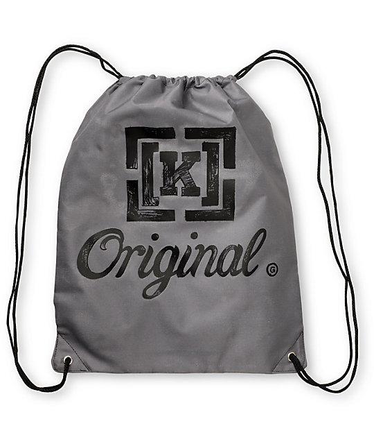 KR3W Original Grey Cinch Bag