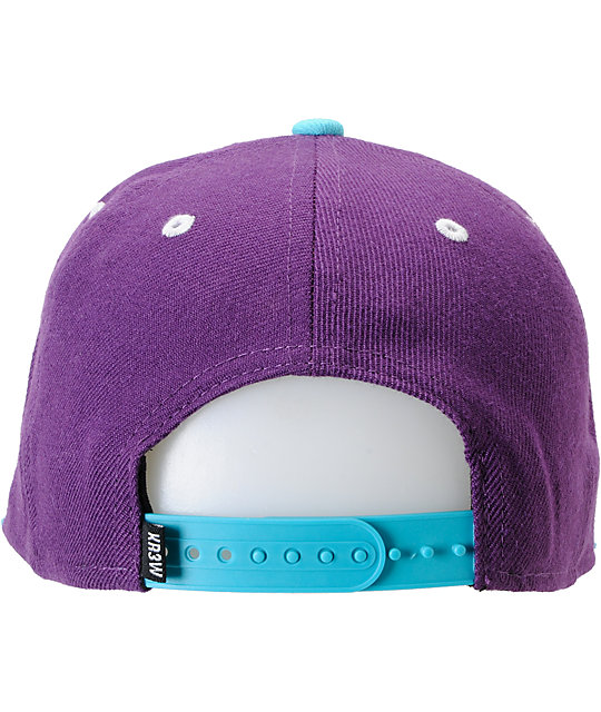 KR3W Original Purple & Teal Snapback Hat