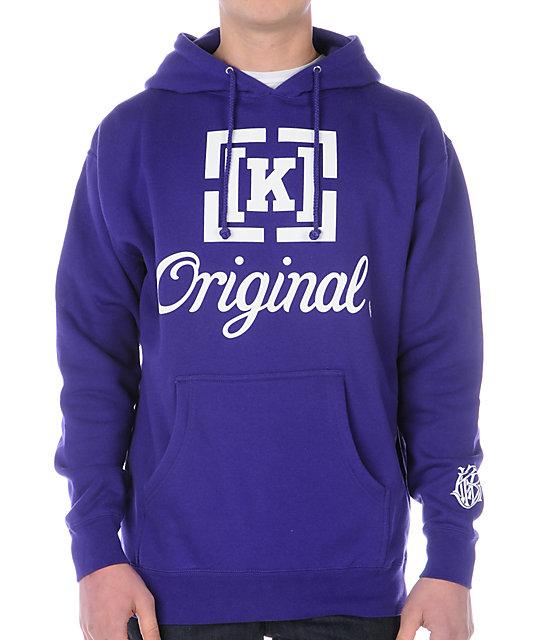 KR3W Original Purple Hoodie