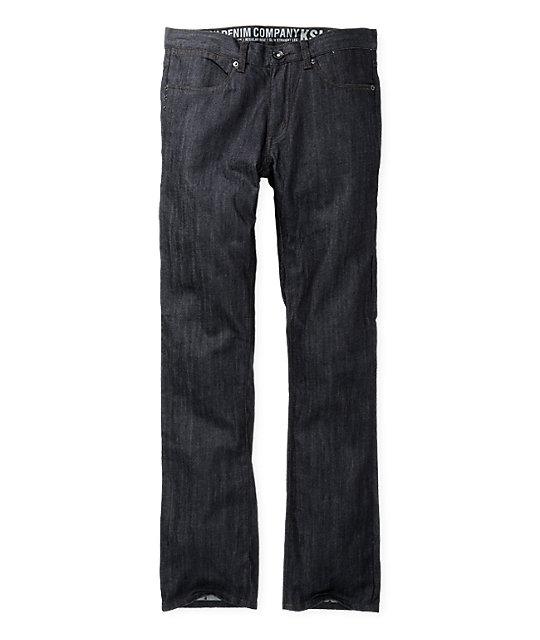 KR3W Raw Wash K Slim Jeans
