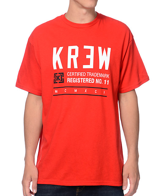 KR3W Registered Red T-Shirt