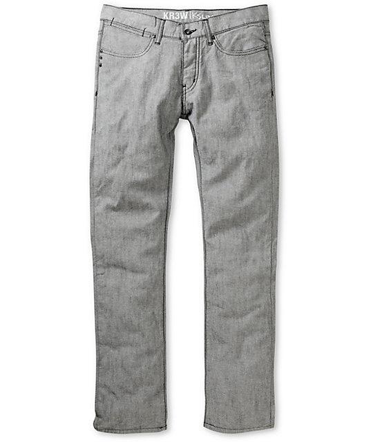 KR3W Reverse Black K Slim Jeans