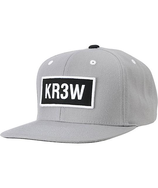 KR3W Seed Patch Silver Snapback Hat