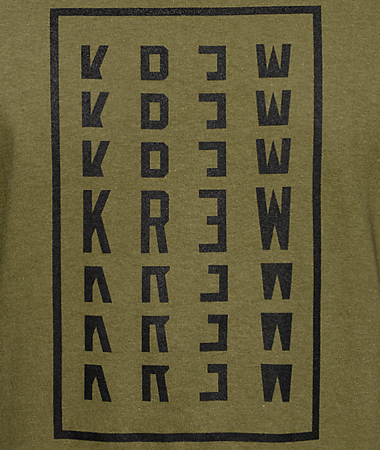 KR3W Stacker Olive T-Shirt