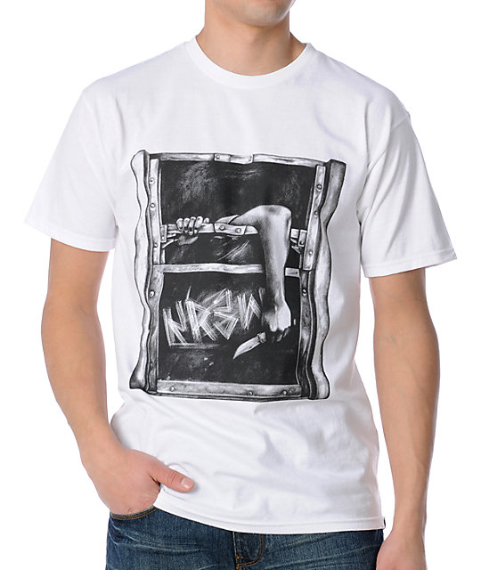 KR3W Subway White T-Shirt