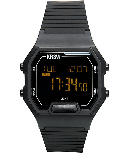 KR3W Terminal Black Digital Watch