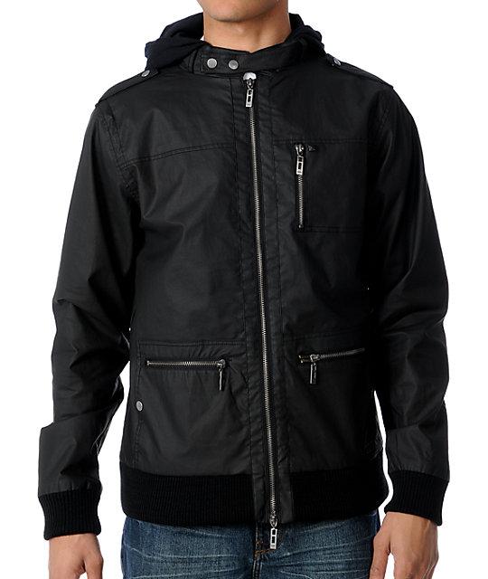 KR3W Wallace Black Waxed Canvas Jacket