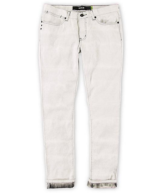 KR3W White Tie Die K Skinny Jeans