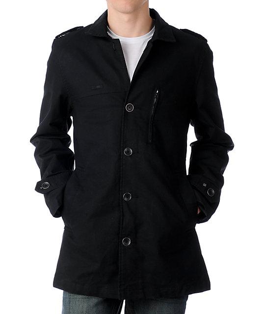 KR3W Winslow Black Military Jacket