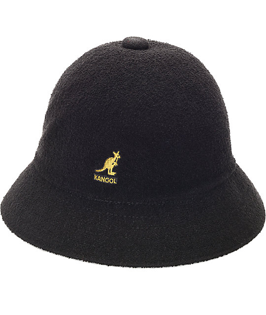 Kangol Bermuda Casual Black & Gold Bucket Hat