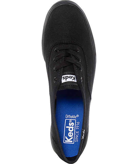 Keds Triple Black Platform Shoes