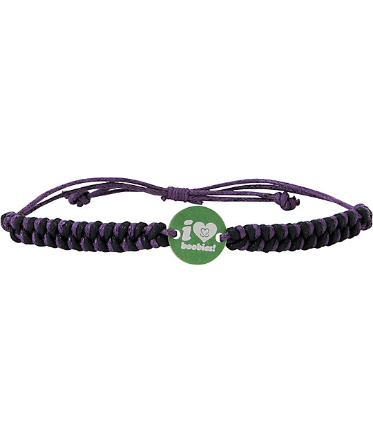 Keep A Breast Foundation Purple & Green Braided Bracelet