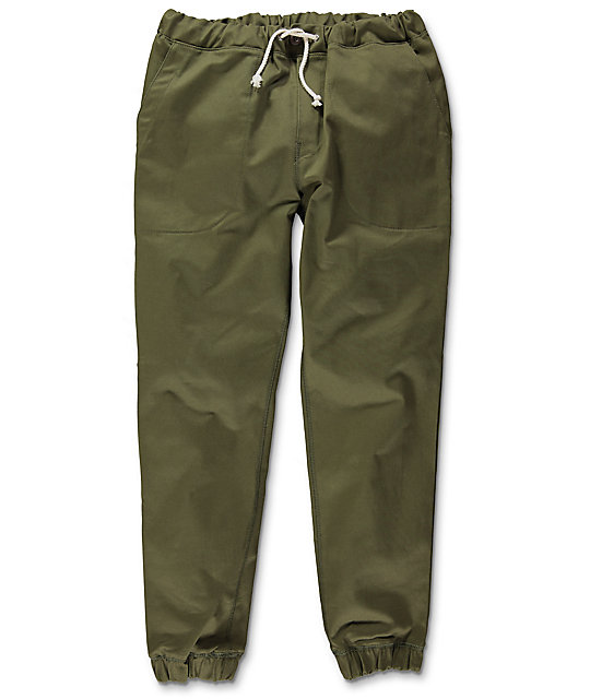 Kennedy Boarder Olive Jogger Pants