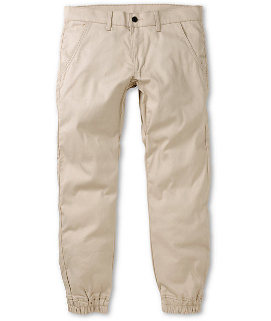 Kennedy Weekender Light Khaki Denim Jogger Pants at Zumiez : PDP