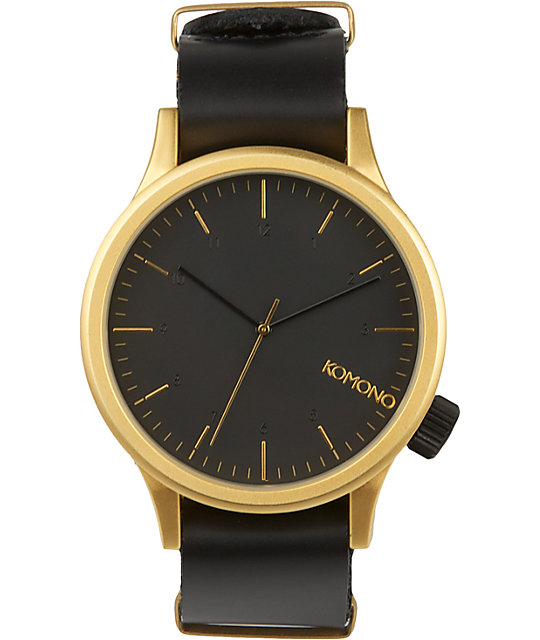 Komono Black & Gold Analog Watch