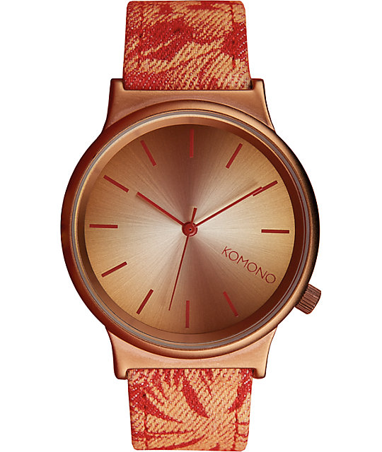 Komono Hawaiian Sunset Wizard Print Watch
