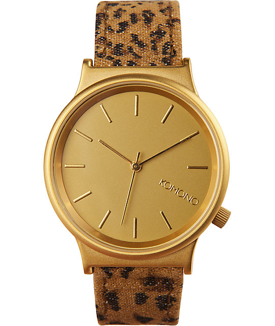 Komono Leopard Wizard Print Watch