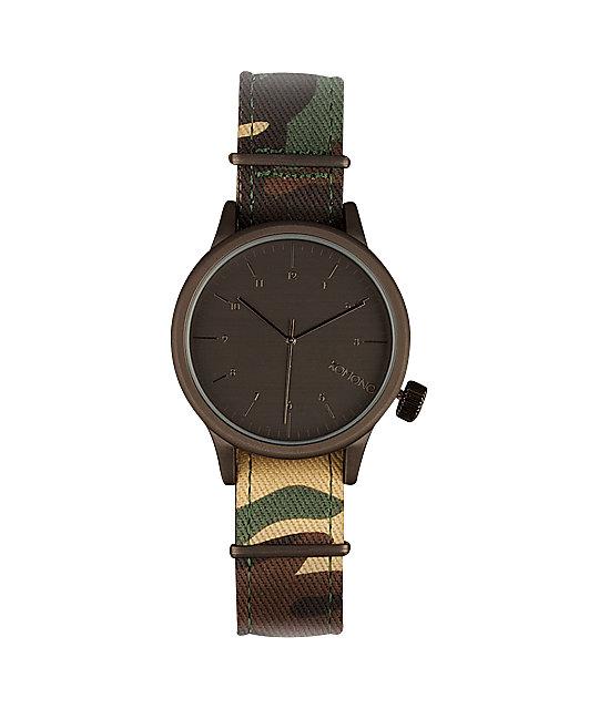 Komono Magnus Print Woodland Camo Watch