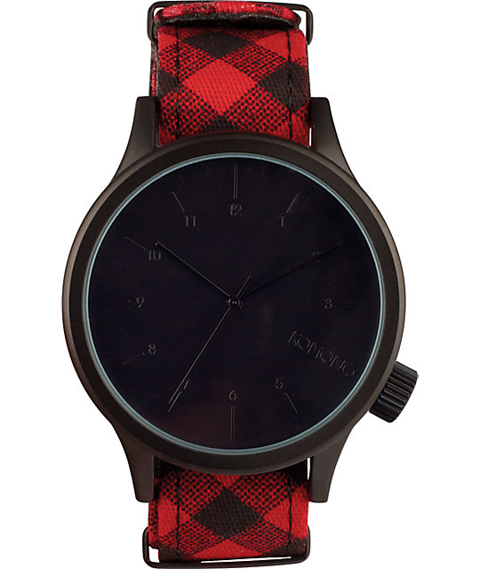 Komono Magnus Woodsman Print Analog Watch
