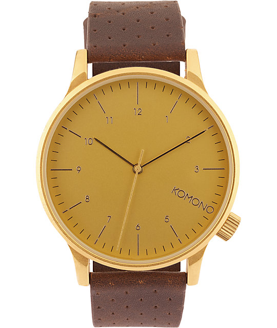 Komono Winston Gold Analog Watch