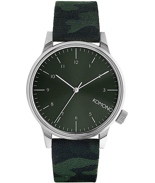Komono Winston Print Camo reloj verde
