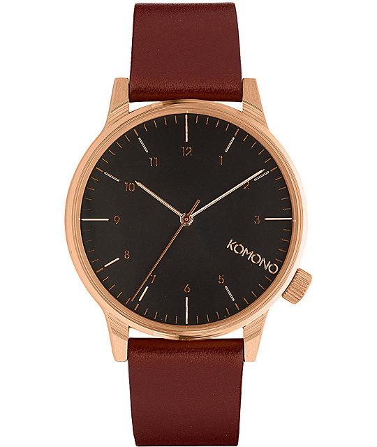 Komono Winston Regal Burgundy Watch