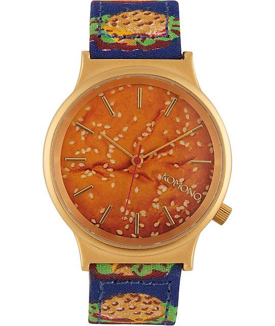 Komono Wizard Print Burger Watch