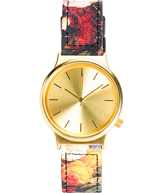 Komono Wizard Print Flemish Baroque Analog Watch