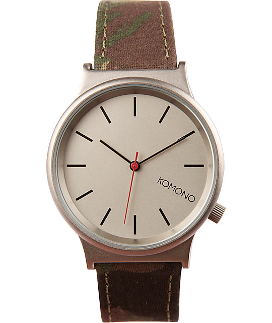 Komono Woodland Camo Wizard Print Watch