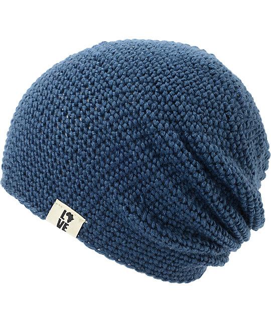 Krochet Kids 5207.5 Dark Blue Slouchy Beanie