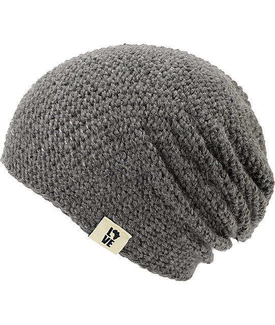 Krochet Kids 5207.5 Oxford Grey Slouchy Beanie