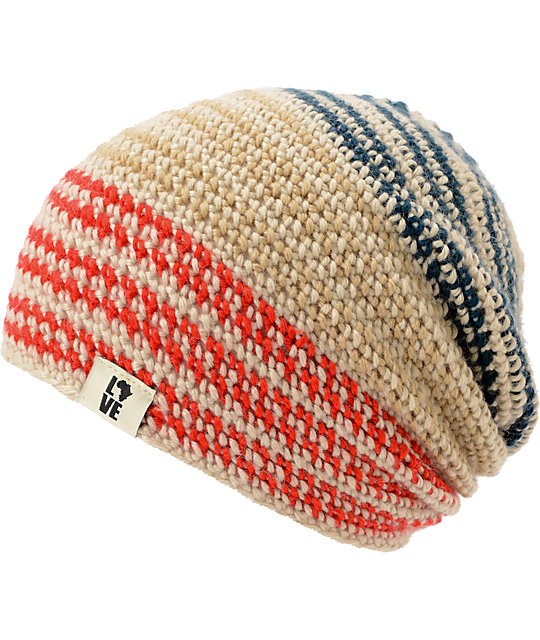 Krochet Kids 5207.5 Patriot Stripe Slouchy Beanie