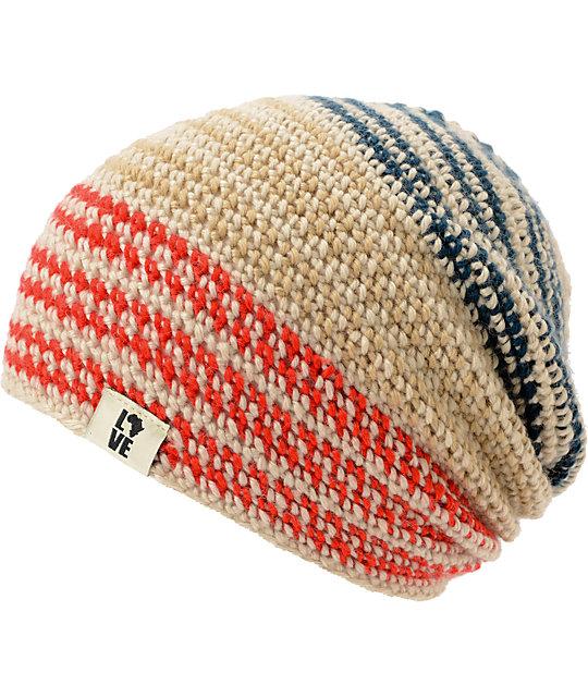 Krochet Kids 5207.5 Patriot Stripe Slouchy Beanie
