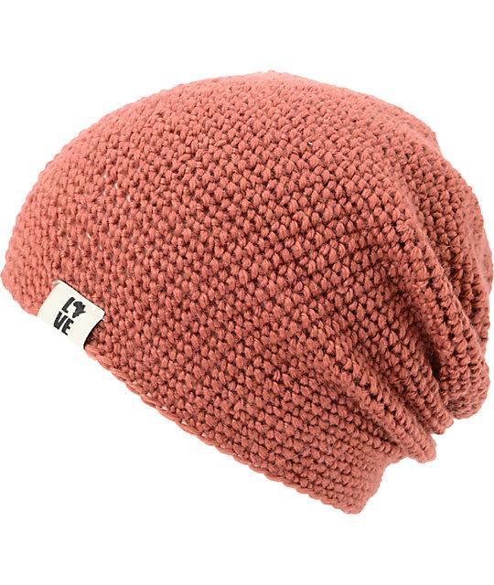 Krochet Kids 5207.5 Rose Pink Slouchy Beanie