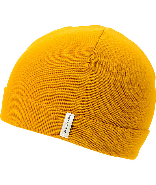 Krochet Kids Helm Mustard Yellow Cuff Beanie