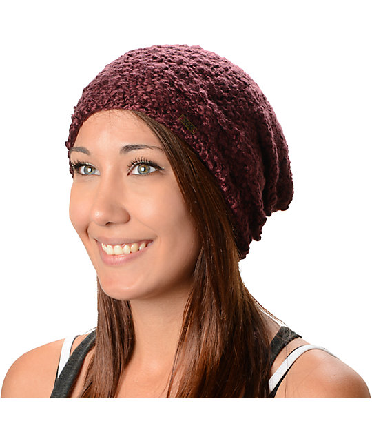 Krochet Kids Lilly Burgundy Beanie