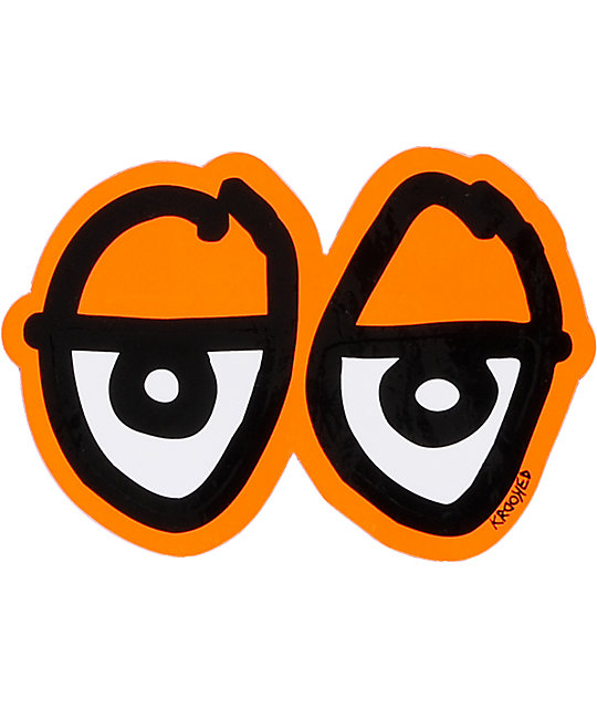 Krooked Eyes Orange Sticker