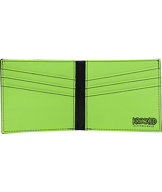 Krooked Skateboards Eye Black Bifold Wallet