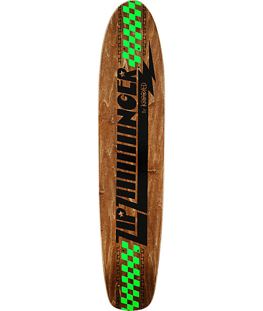"Krooked Zip Ziiinger 7.7""  Longboard Skateboard Deck"