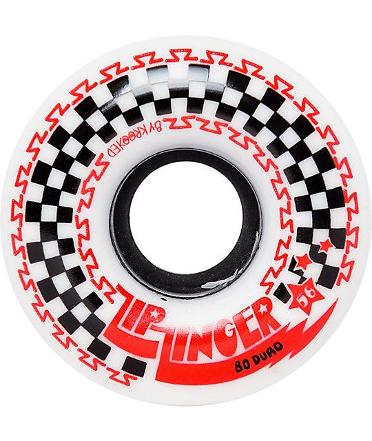 Krooked Zip Zinger 56mm 80a White Skateboard Wheels