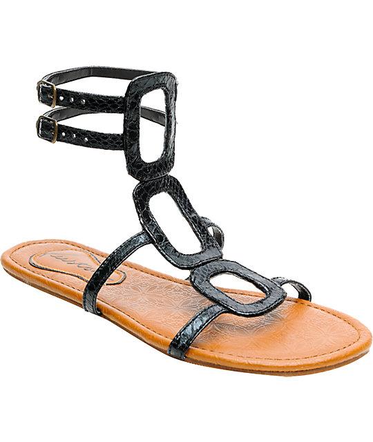 Kustom Footwear Black Sandals