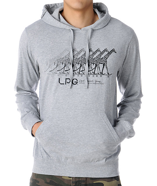 LRG Action Giraffe Son Grey Pullover Hoodie
