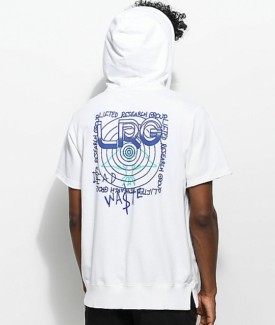 LRG All Night Short Sleeve White Hoodie