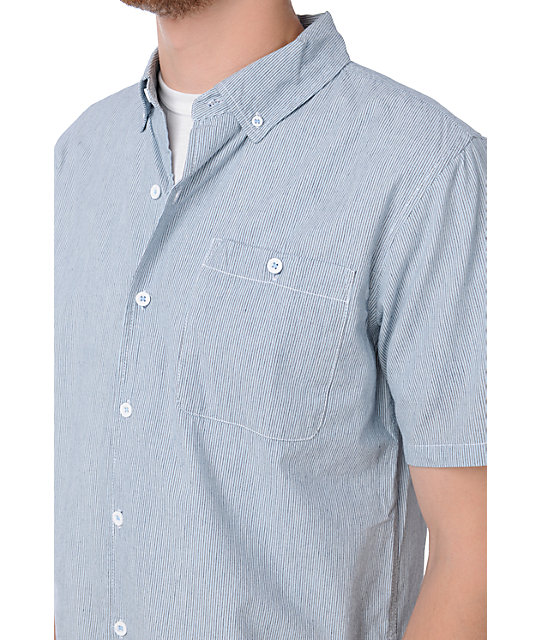 LRG All Team Blue Button Up Shirt